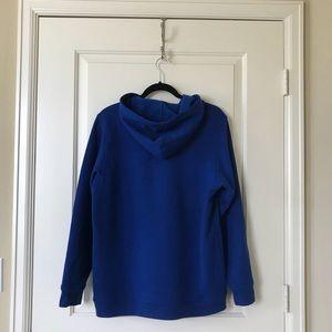 Adidas originals blue big kid hoodie, size XL